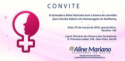 convite Nise para Homenagem a dia das mulheres